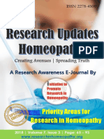 Research Updates - Homeopathy Vol 7 Issue 3_Special Edition_Priority Areas for Research in Homeopathy