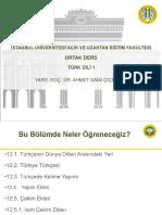 Türk Dili 1 Ders Sunumu 12