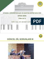 Türk Dili 2 Ders Sunumu 7