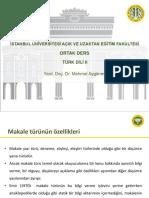 Türk Dili 2 Ders Sunumu 11