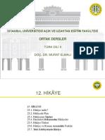 Türk Dili 2 Ders Sunumu 12