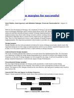 Deriving Design Margins for Successful Timing Closure