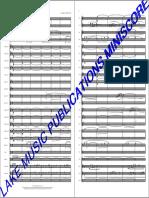 The Last Samurai Blas Orchester Mini Score