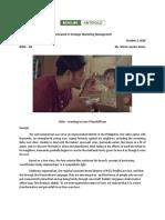 Homework in Strategic Marketing Management