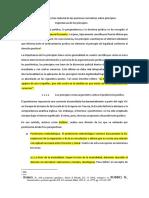Corrección Material de Las Premisas Normativas Sobre Principios