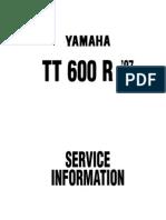 Werkstatthandbuch-Datenblatt Yamaha-TT 600 R