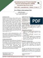 Transfer of Risk in International Sale