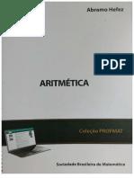 MA14 Aritmética 2ª Edição 2016 Abramo Hefez Profmat