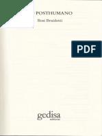 Rosi Braidotti. Lo Posthumano. Cap i,II. Medio Edit