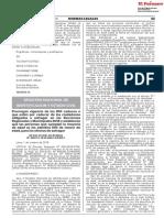 Prórroga de la vigencia de los DNI caducos para Elecciones Regionales y Municipales 2018