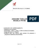 Memória de Cálculo - Andaime Tubular Metax - Pr15b - 21120830