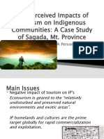 The Perceived Impacts of Tourism on Indigenous Communities