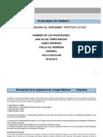 Plan Anual de Trabajo Lengua y Literatura 2018-2019-3