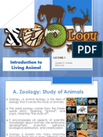Lecture 1 Introduction to Living Animal