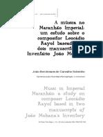 A Musica No Maranhao Imperial J Berchmans