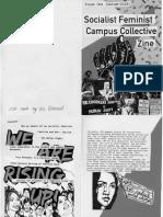 Socialist Feminist Campus Collective Zine (B&W)
