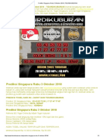 Prediksi Singapura Rabu 3 Oktober 2018