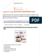 100 BASIC MECHANICAL ENGINEERING Interview Questions Answers PDF BASIC MECHANICAL ENGINEERING Interview Questions Answers PDF.pdf