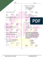 Boletin de Álgebra Vacacional 2017 NIVEL 1