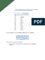 Odenar en Excel
