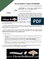 Cresterea viermilor de matase (sericicultura) - porneste o afacere de succes - www.ViermiDeMatase.info
