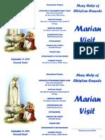 PROGRAM Marian Visit