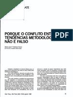 Porque o conflito entre tendecias metodologicas não é falso.pdf
