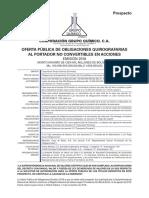 Prospecto Grupo Quimico Obligaciones Quirografarias 2018