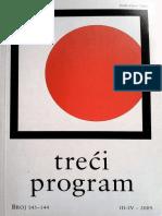 Časopis TREĆI PROGRAM * Br. 143–144, III–IV / 2009