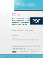 El Sujeto en Cuestión de Pedro Karczmarczyk (Comp.) (Reseña) - Valentín Huarte
