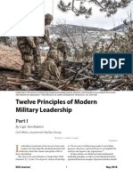 12 Principles of Modern Military Leadership