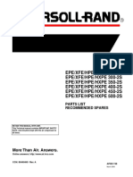 Ingersoll Rand EPE,XFE, HPE, HXPE Series Parts List - Recommended Spares (March 2000)