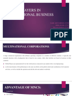 Active Players in Multinational Business Impacting International Busines Final1