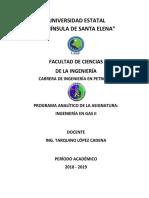 Ing Gas Natural II UPSE