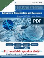 Adv Biotech 2018 36740 Adv Biotech 2018 Tentative Program3598