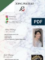 Wedding Pricelist [Autosaved]