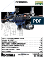 Assembling An AR-15 Rifle Parts Checklist