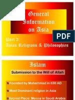 Asian Religion & Philosophies