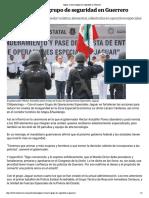 01-08-2018 Jaguar, El Nuevo Grupo de Seguridad en Guerrero.
