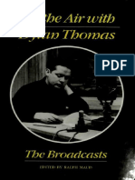 On the Air With Dylan Thomas the Broadcasts