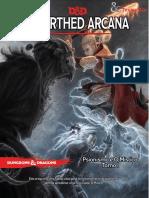 D&D 5E - Unearthed Arcana - Psionismo e O Místico - Tomo I - Biblioteca Élfica