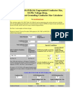 NEC Table 310 Calculo Conductor Rayos X y Caida de Voltaje