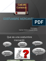 Costumbre mercantil diapositivas