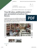 Ajuste por inflación Argentina