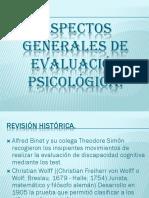 Aspectos Generales de Evaluación Psicológica Materia