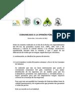 COMUNICADO Gremiales Rurales 2 10 18