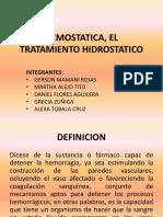 Hemostatica ..El Tratamiento Hidrostatico