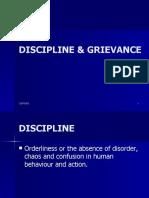 Discipline & Grivance