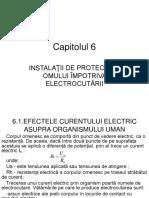 Instalatii de protectie a omului impotriva electrocutarii
