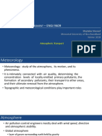 Fate and Transport of Risk Agents in Environment I